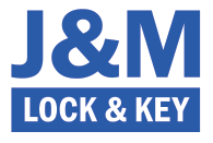 j&m lock and key logo